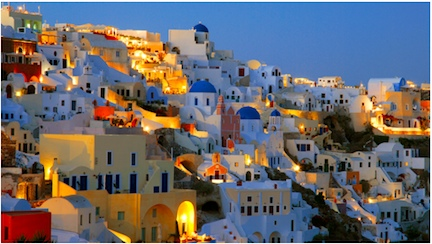 Santorini Greece.Sunset